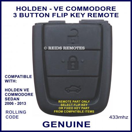 Holden VE Commodore 2006 - 2013 genuine 3 button flip key remote part