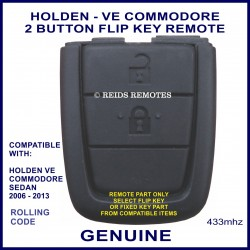 Holden VE Commodore 2006 - 2013 genuine 2 button flip key remote part