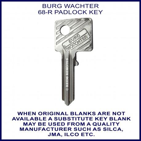 Burg Wachter 68-R padlock key blank