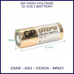 GP Ultra 23AE 12V Alkaline battery
