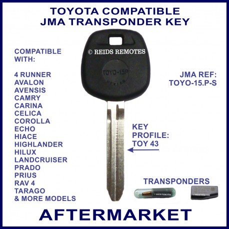 Toyota Compatible Car Key Transponder Cloned Key Cut East Vic Park