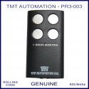 TMT Automation Inc PR3-003 - 4 silver button black swing or sliding gate remote