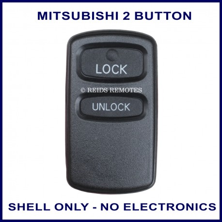 Mitsubishi 2 button remote replacement shell ONLY