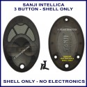 Sanji Intellica TX SAN-CH 3 button replacement shell ONLY
