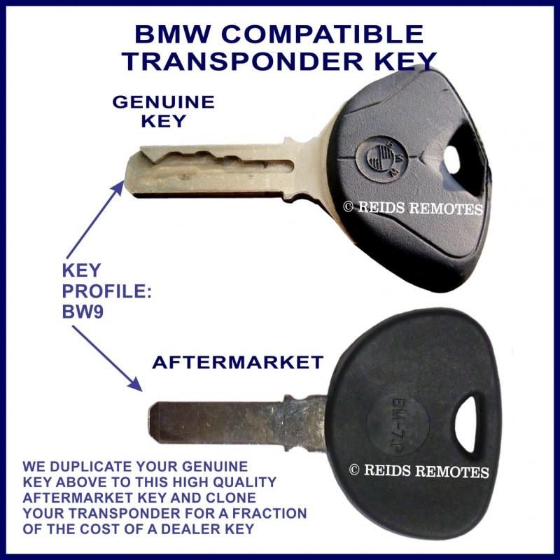 Bmw Car Key Cutting: BMW Motorcycles Compatible Transponder Key Cut & Cloned In
