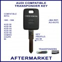 Audi 1995- 1996 models compatible car key with transponder cloning & key cutting