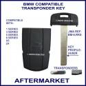BMW 1, 3, 5, 6, 7 series, X5 & Z4 key-less start fob with transponder cloning & key cutting
