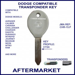 Dodge Caliber - Journey - Neon - Nitro - Ram compatible car key with transponder cloning & key cutting