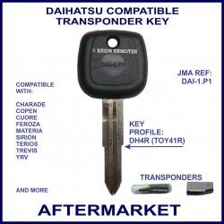 Daihatsu Charade, Copen, Feroza, Sirion & YRV car key with transponder cloning & key cutting
