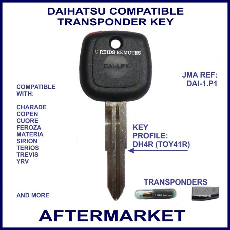 Bmw Car Key Cutting: Daihatsu Charade Copen, Cuore, Sirion & Terios Car Key Cut