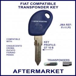 Fiat Cinquecento Croma Ducato Panda key with transponder cloning & key cutting