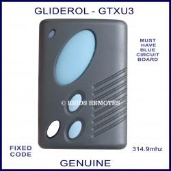 gliderol remote control instructions