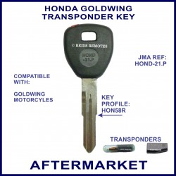Honda Goldwing motorcycle transponder key