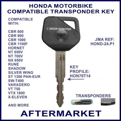 Honda CBR Hornet NT NX Shadow ST VT VFR motorcycle key cut & cloned