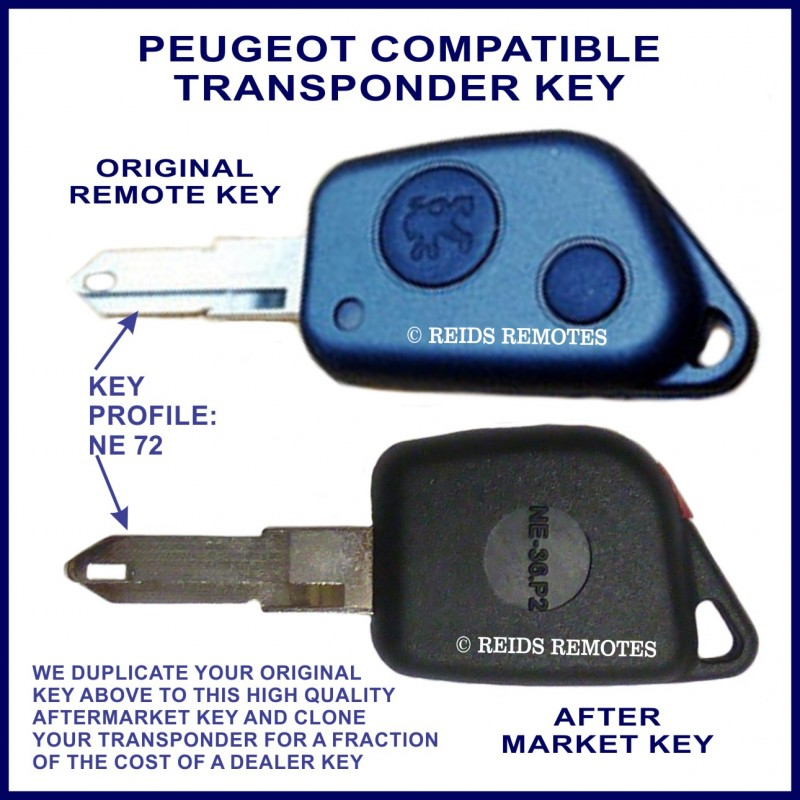 peugeot 106 206 cabrio 306 4007 5008 car key cut. Black Bedroom Furniture Sets. Home Design Ideas