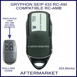 Seip 433 RC-AMB Gryphon garage doors compatible remote control