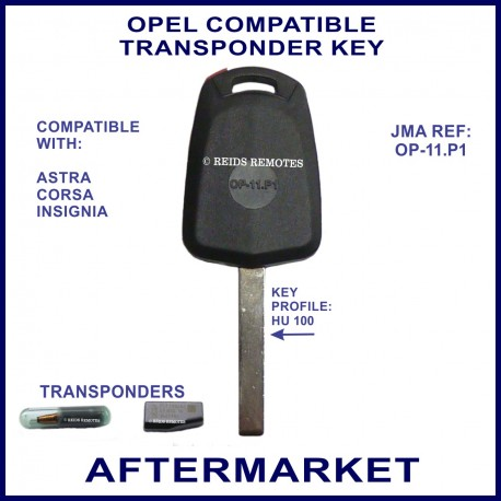opel astra corsa insignia compatible transponder car key. Black Bedroom Furniture Sets. Home Design Ideas