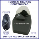 Hyundai Tiburon remote replacement BUTTON PAD ONLY