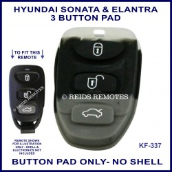 Hyundai Sonata or Elantra remote replacement BUTTON PAD ONLY
