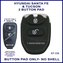 Hyundai 3 button remote replacement BUTTON PAD ONLY