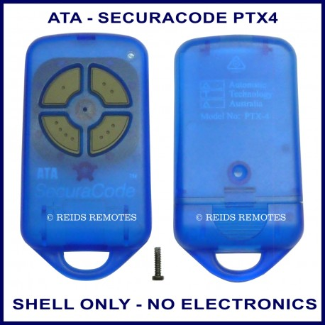ATA PTX-4V1 or PTX-4V2 blue garage remote replacement shell ONLY