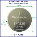 Panasonic BR1225 3V Lithium battery for use in remote control
