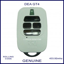 DEA GT4 white gate remote control with 4 black buttons