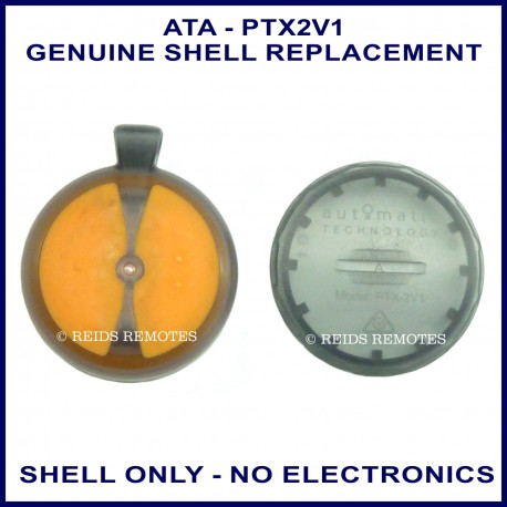 ATA PTX-2V1 2 orange button garage remote replacement shell only