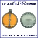 ATA PTX-2V1 2 orange button round garage remote replacement shell only