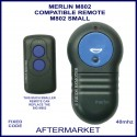 Merlin M-802 small 2 button alternative garage door remote control
