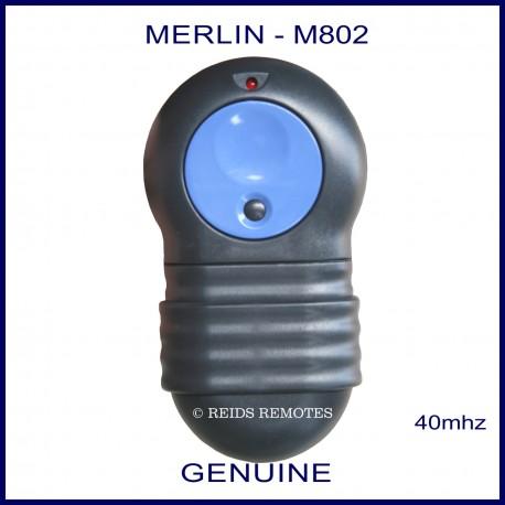 Merlin M-802 Big blue button 12 dip switch fixed code garage door remote