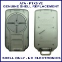 ATA PTX-5V2 4 grey button garage remote replacement shell only