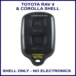 Toyota Corolla or RAV 4 - 2 black button remote shell only