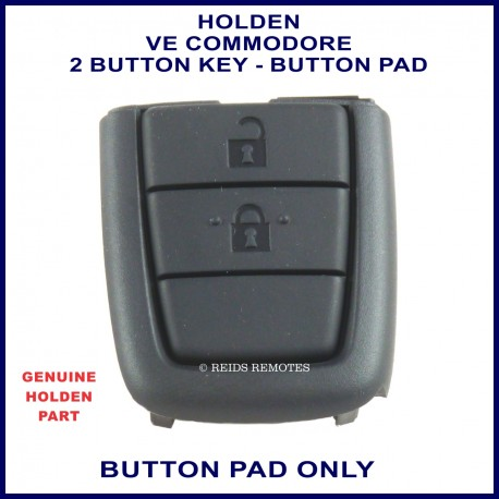 Holden VE Commodore 2 button flip or fixed blade remote key button pad replacement