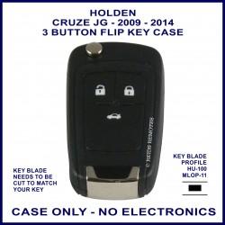 Holden Cruze JG 2009-2014 3 button flip key shell only - no electronics