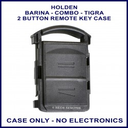 Holden Barina Combo & Tigra 2 button fixed blade key remote case replacement
