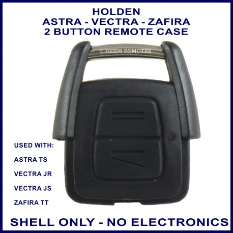 Holden Astra TS, Vectra JR JS & Zafira TT 2 button fixed blade key remote case replacement
