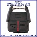 Holden Astra TS, Vectra JR JS & Zafira TT 3 button fixed blade key remote case replacement