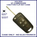 Holden VF Commodore 5 button flip key shell only - no electronics