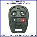 Kia Sorento 2003-2006 4 button remote shell replacement only - no electronics