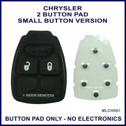 Chrysler 2 button remote key button pad only - small button version