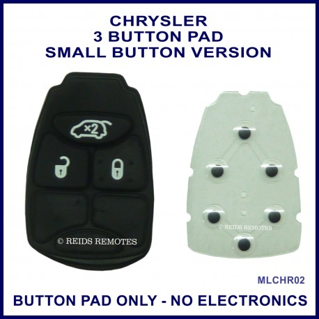 Chrysler 3 button remote key button pad only - small button version