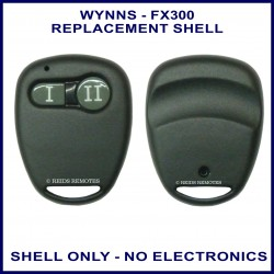 Wynns FX 300 2 grey button black remote replacement shell only