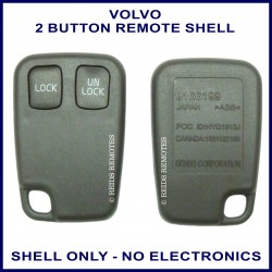 Volvo C70 S40 S70 V40 V70 replacement 2 button remote shell only