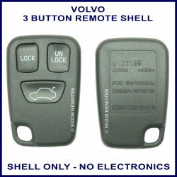 Volvo C70 S40 S70 V40 V70 replacement 3 button remote shell only