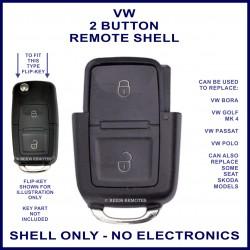 VW 2 button flip key remote case section replacement