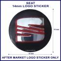 Seat 14 mm logo sticker for use on flip keys