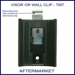 Aftermarket remote sun visor or wall mount clip - remote holder