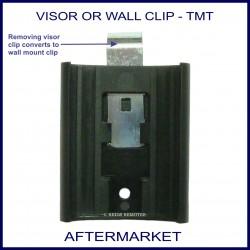 Aftermarket remote sun visor or wall mount clip - remote holder