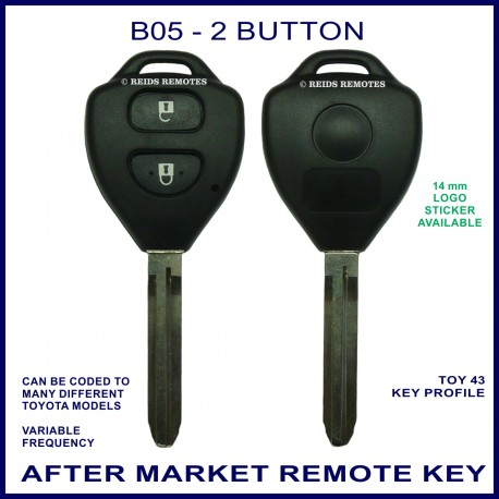 B05 2 button B-Series standard transmitter fixed blade TOY-43 key
